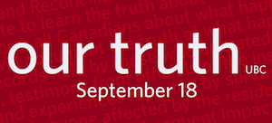 West Coast National Event of the Truth and Reconciliation Commission: Classes Suspended September 18