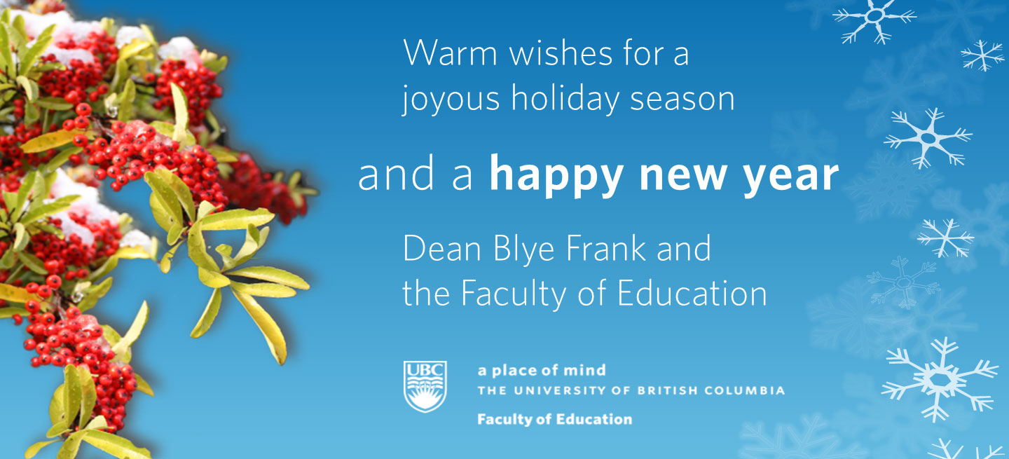 Holiday Greetings Faculty Of Education