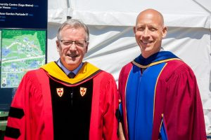 Dr. Robert Boushel, Head, School of Kinesiology, with Dr. Eli Puterman, Asst. Professor, KIN.