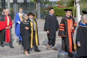 Faculty procession to May 2017 Congregation.