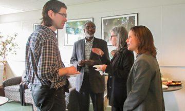 L-R: Dr. Jason Ellis, EDST, Dr. Ali Abdi, EDST, Dr. Shelley Hymel, ECPS, ErinRose Handy, Communications & Marketing.