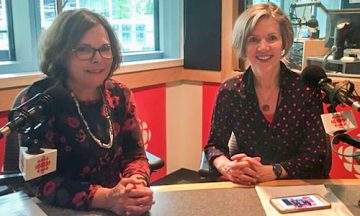 Diane Tijman, President of Canadian Parents for French BC & Yukon, and Dr. Wendy Carr, associate dean of UBC's teacher education program.  Photo: CBC Radio-Canada