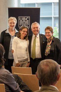 Dr. Patricia Duff, Dr. Sandra Zappa-Hollman, Dean Blye Frank, Dr. Bonny Norton