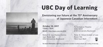 UBC Day of Learning: Japanese Canadian Student Tribute