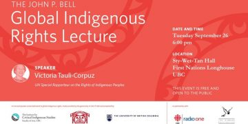 John P. Bell Global Indigenous Rights Lecture with Victoria Tauli-Corpuz