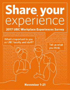 Reminder: Share Your Experience: Take the UBC Workplace Experiences Survey