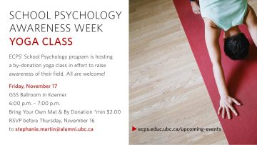 School Psychology Awareness Week Yoga Class