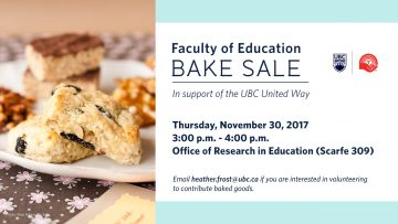 Faculty of Education United Way Bake Sale
