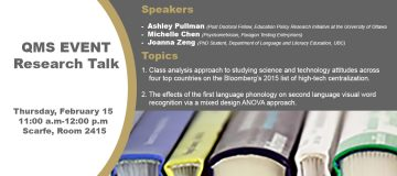 QMS Event: Research Talk