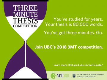 2018 Three Minute Thesis (3MT) Competition