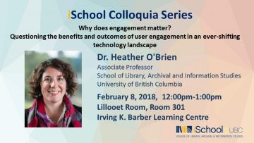 SLAIS Colloquium Winter 2018 – Dr Heather O'Brien