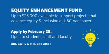 Call for Proposals | 2018 UBC Equity Enhancement Fund