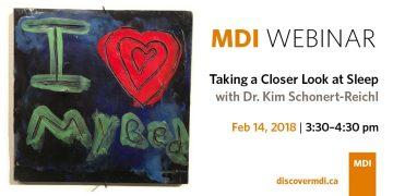 MDI Webinar: Taking a Closer Look at Sleep with Dr. Kim Schonert-Reichl