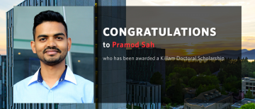 Congratulations to Pramod Sah on receiving a Killam Doctoral Scholarship