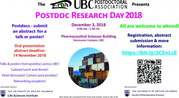 UBC Postdoctoral Association – Post Doc Research Day