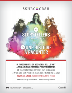 SSHRC Storytellers Contest NOW OPEN