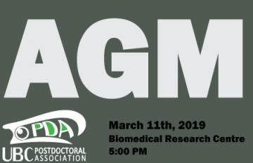 UBC Postdoctoral Association – Annual General Meeting