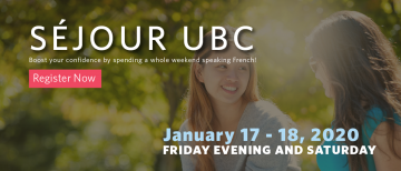 Sejour UBC January 2020