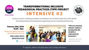 Digital signage for TIPP's February Intensive