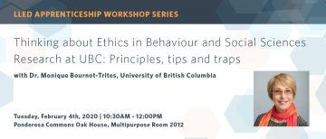 Thinking about Ethics in Behaviour and Social Sciences Research at UBC: Principles, tips and traps
