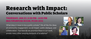 Research with Impact: Conversations with Public Scholars