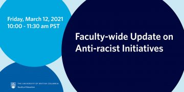 Faculty-wide Update on Anti-racist Initiatives